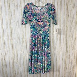 LuLaRoe Amelia Flare Dress NWT Sz XXS